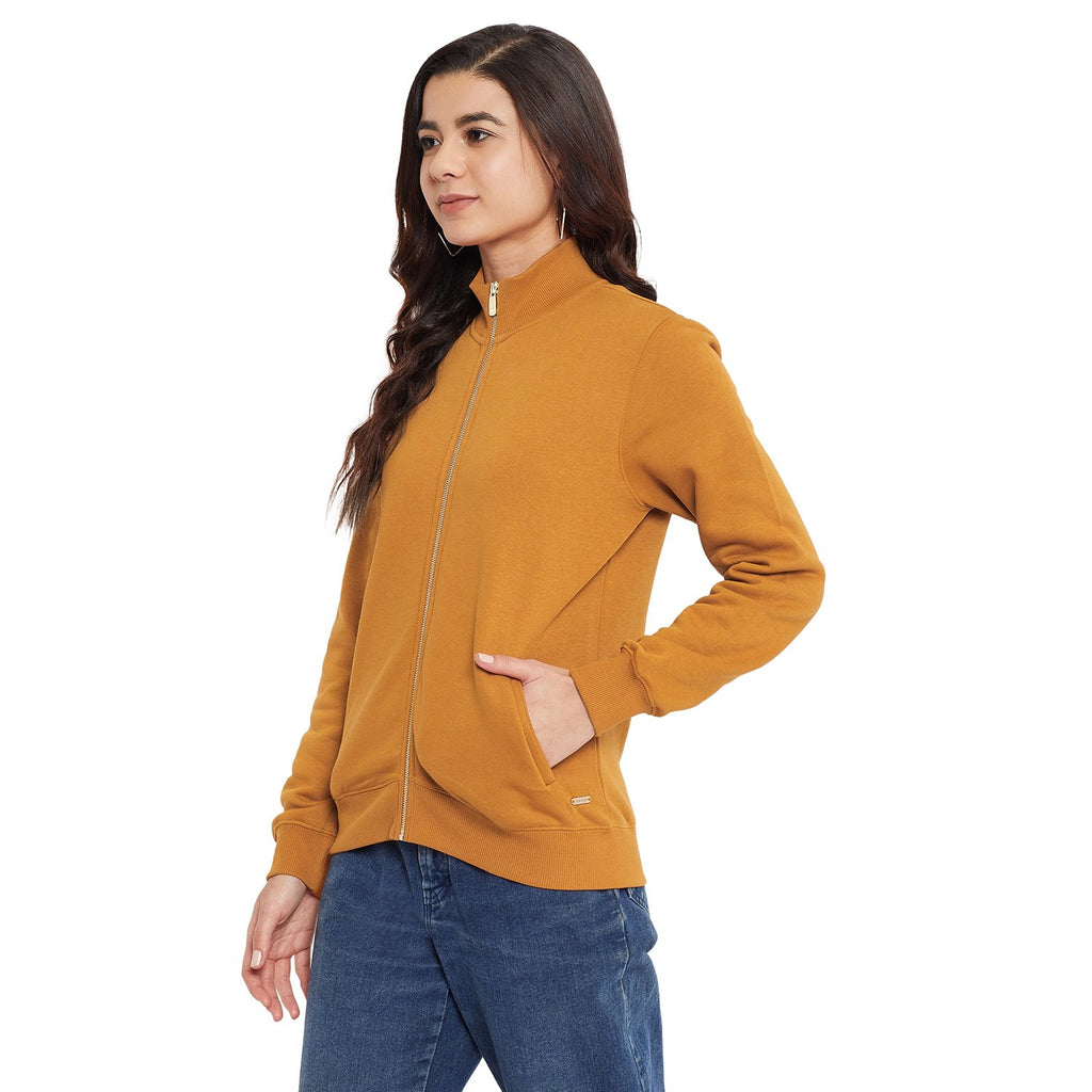 Madame Tan Color Sweat-Shirt For Women