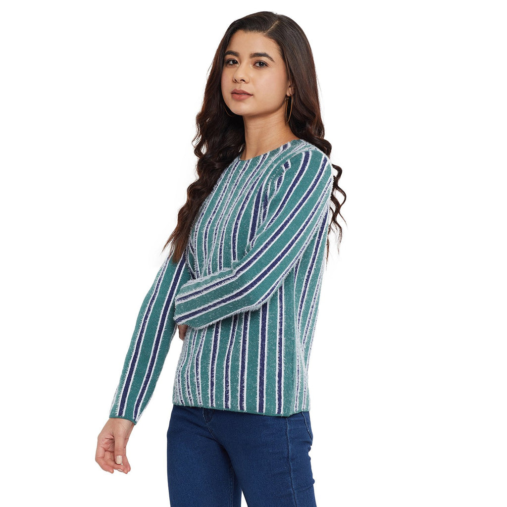 Madame Blue Color Sweater For Women