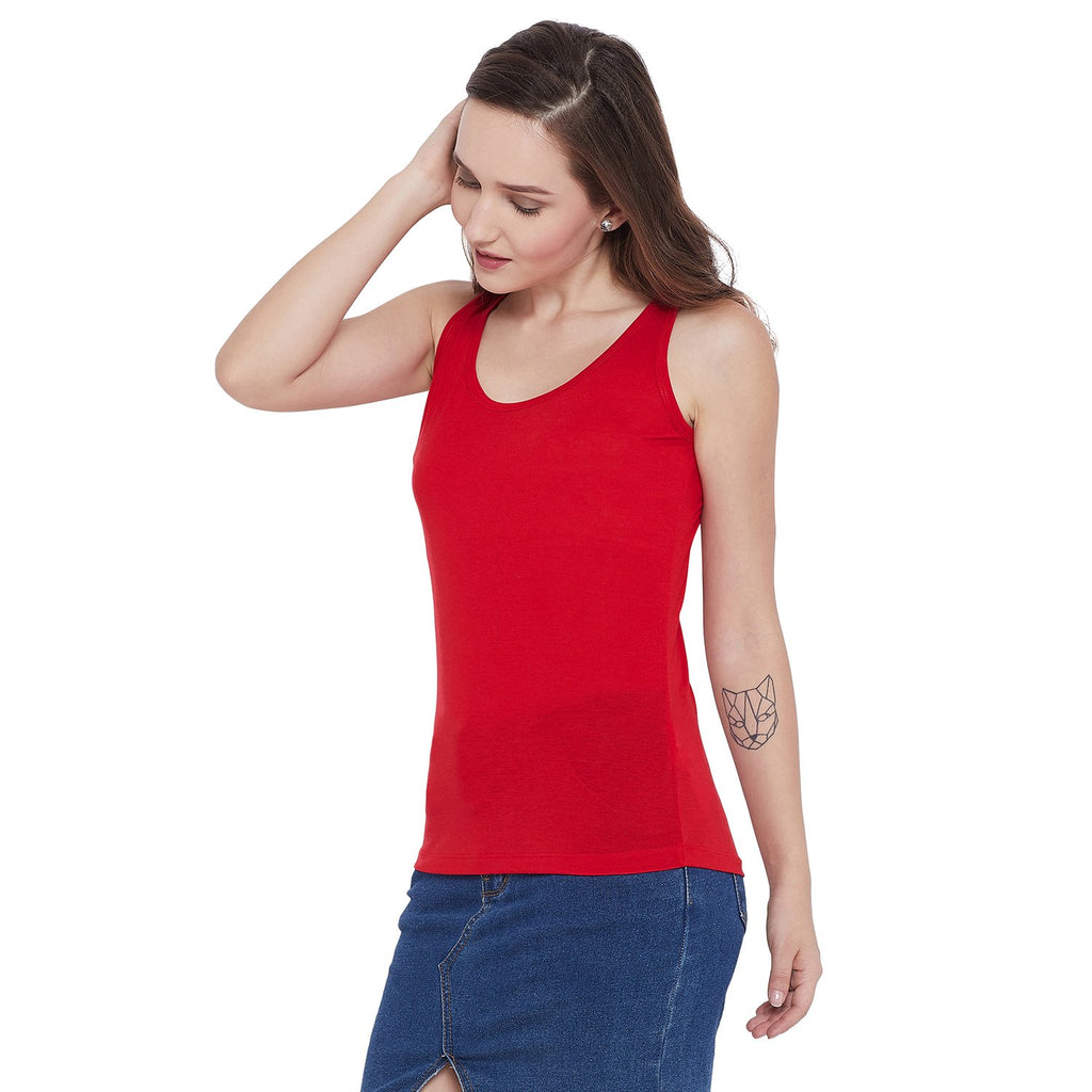 Madame B.Red Color Spaghetti For Women