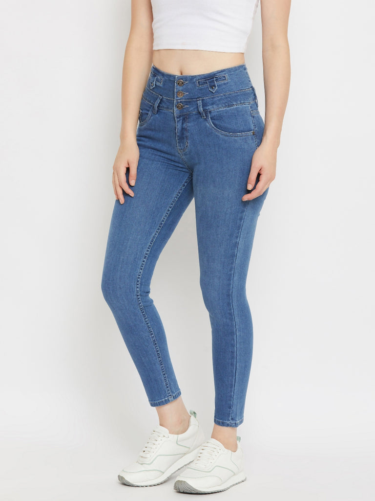 Madame Blue Color Denim For Women