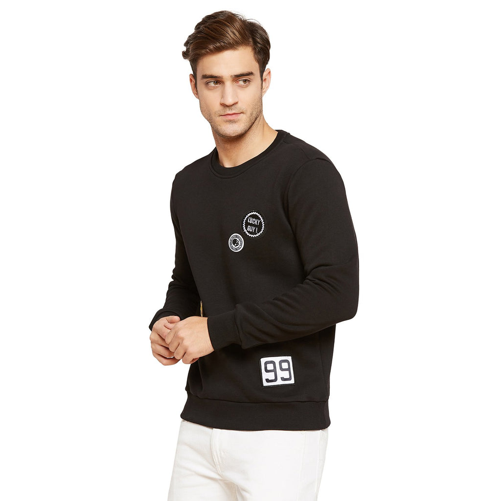 Mens Round Neck Solid Sweatshirt