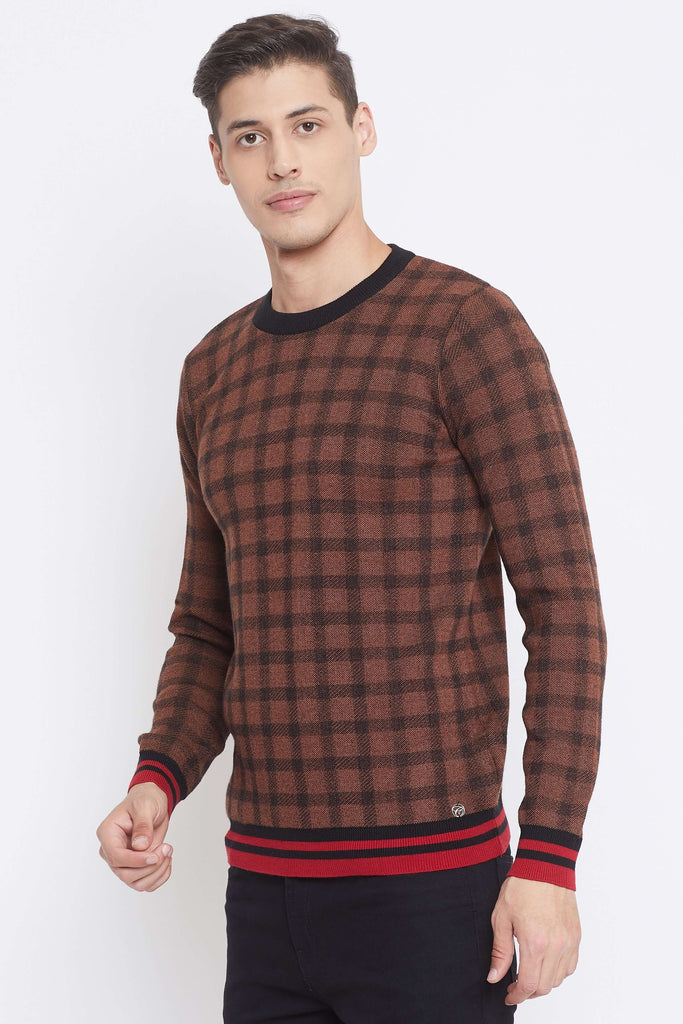Camla Brown Color Sweater For Mens