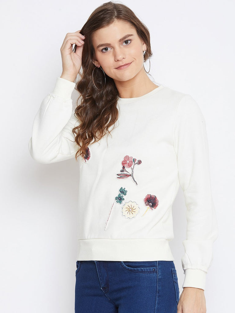 Camla Women White Sweat-Shirt
