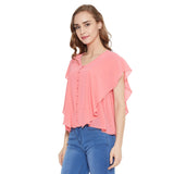 Madame Women Coral Top
