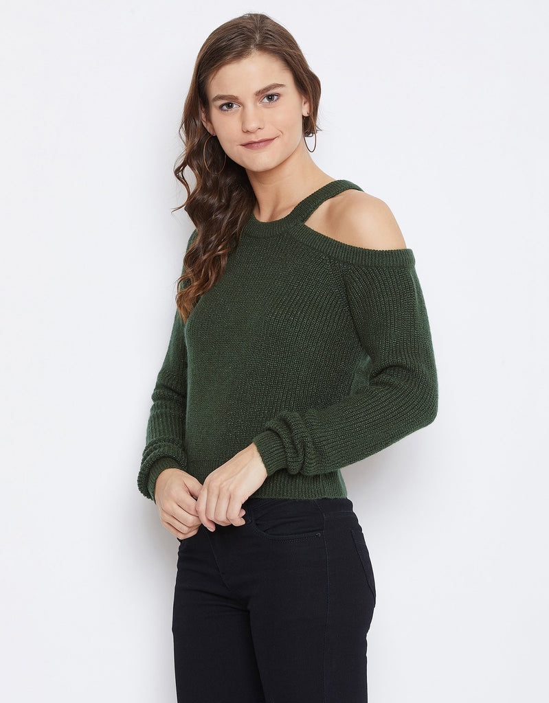 Camla Women Olive Sweater