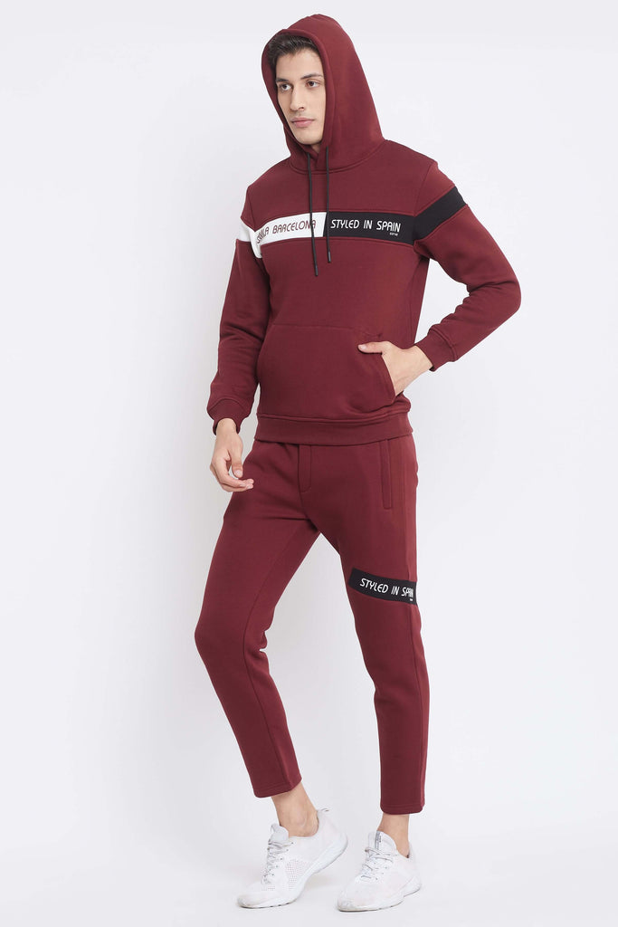 Camla Maroon Color Track Suits For Mens