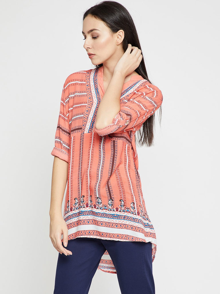 Peach Printed Tunic