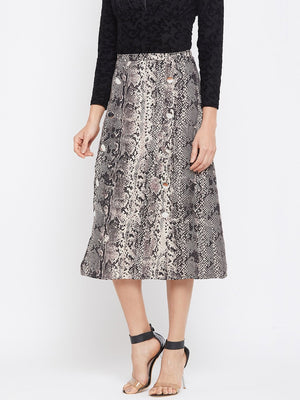 Madame Beige Color Skirt For Women