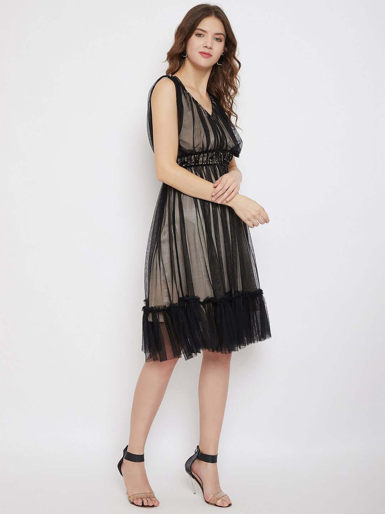 Camla Black Color Dress For Women