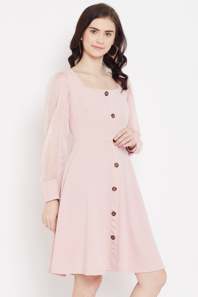 Madame Pink Color Dress For Women