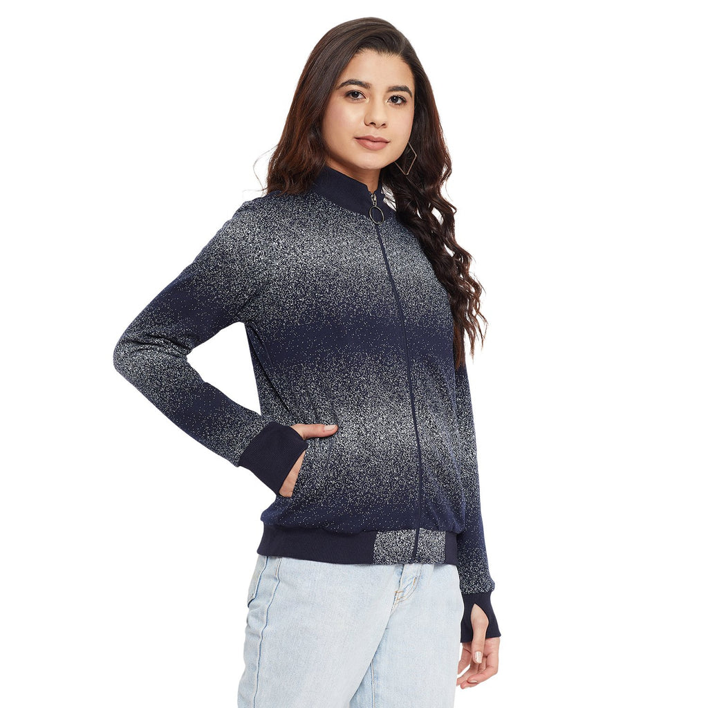 Madame Navy Color Sweat-Shirt For Women