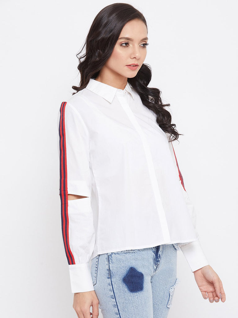 Madame White Color Shirt For Women