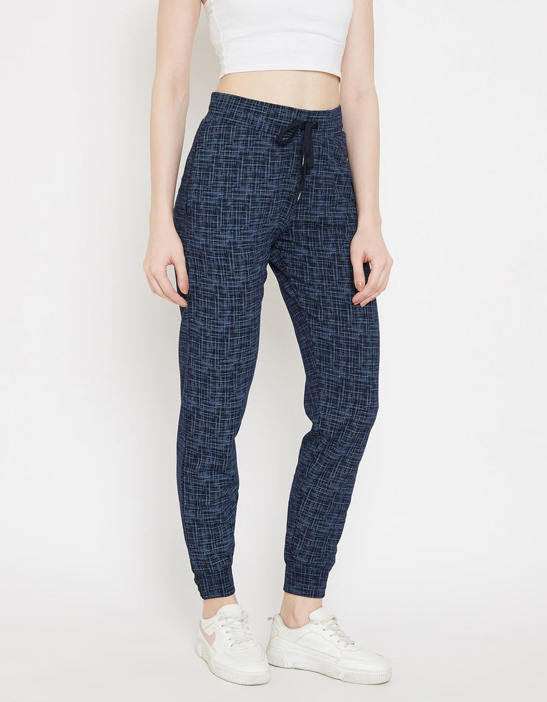 Madame Navy Track Bottoms For Women