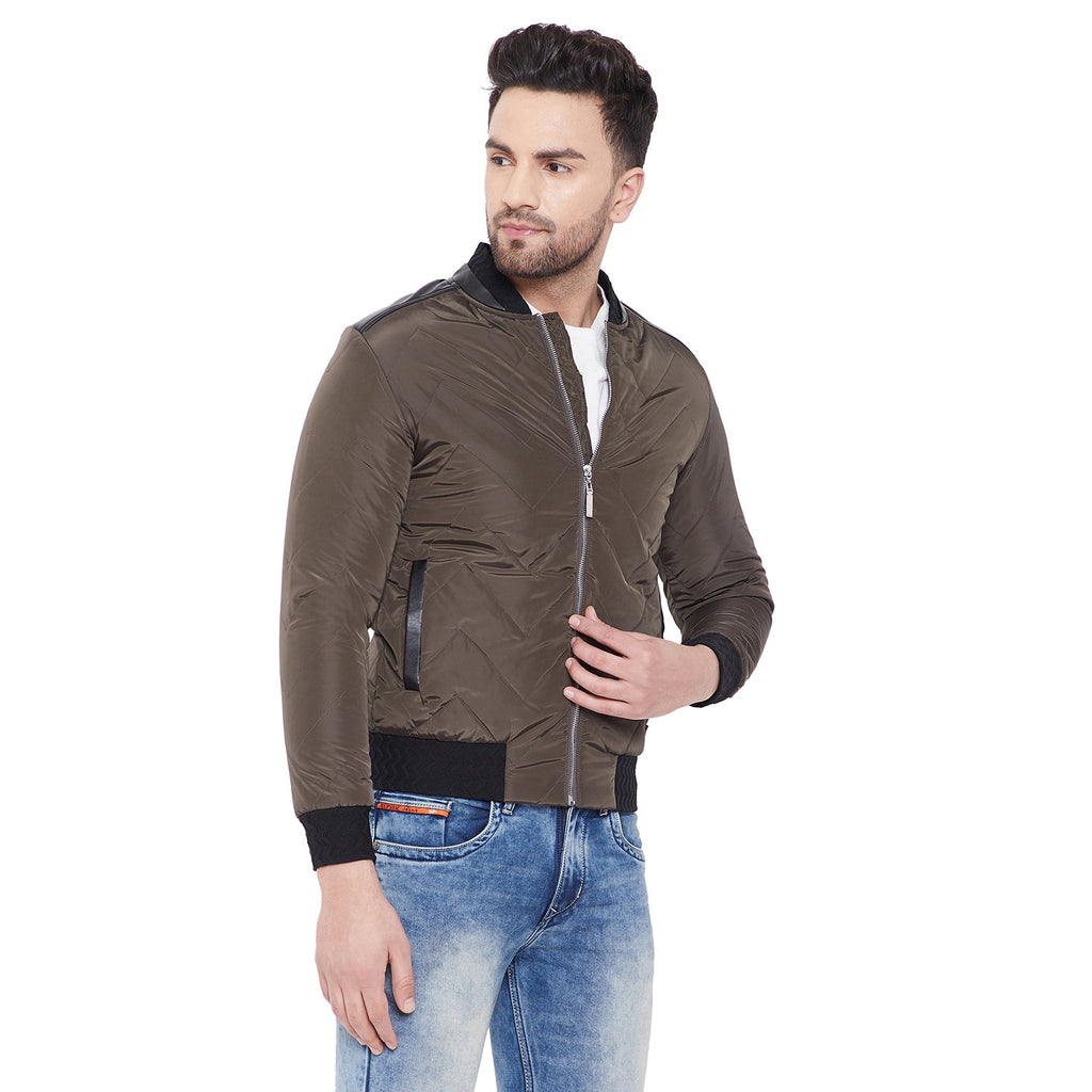 Camla Olive Zipper Casual Jacket