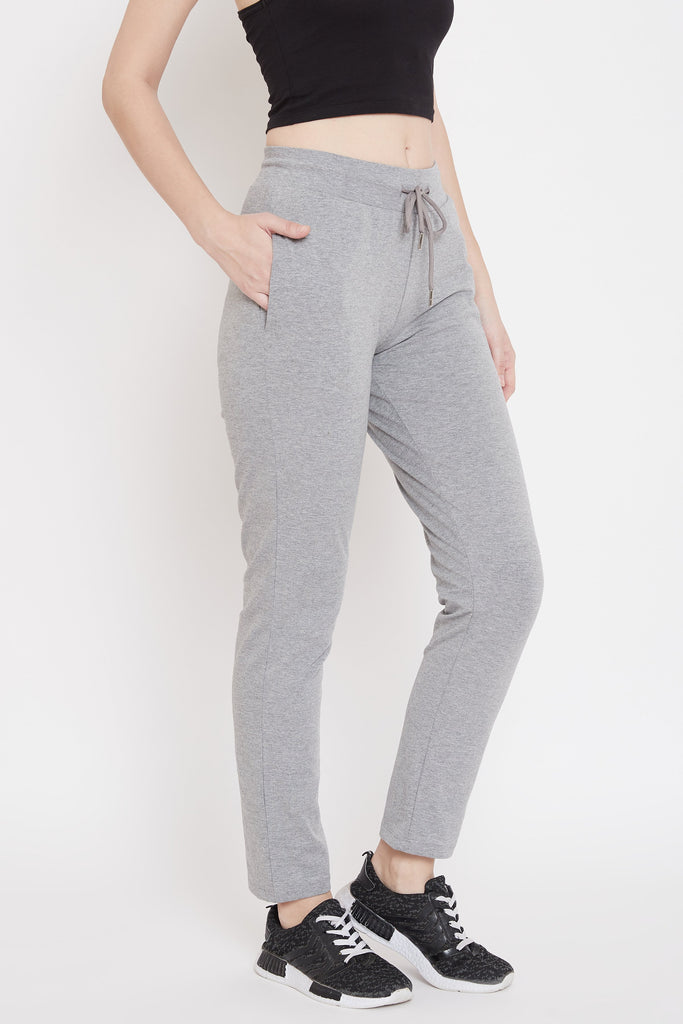 Madame Grey Color Trackbottom For Women
