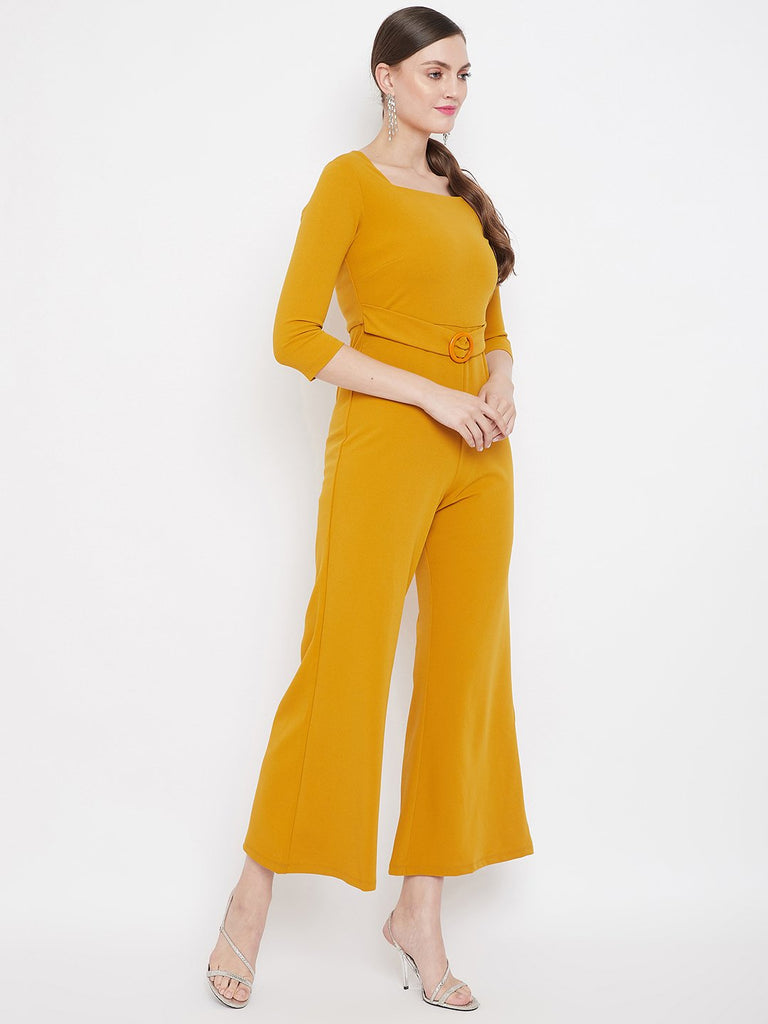 Madame Mustard Color Jumpsuit For Women