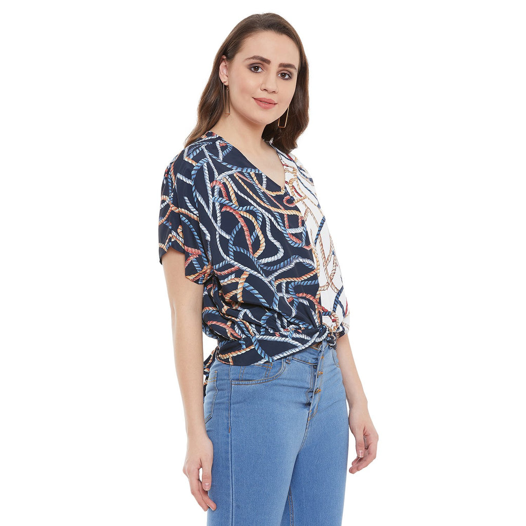 Madame Navy Women Top