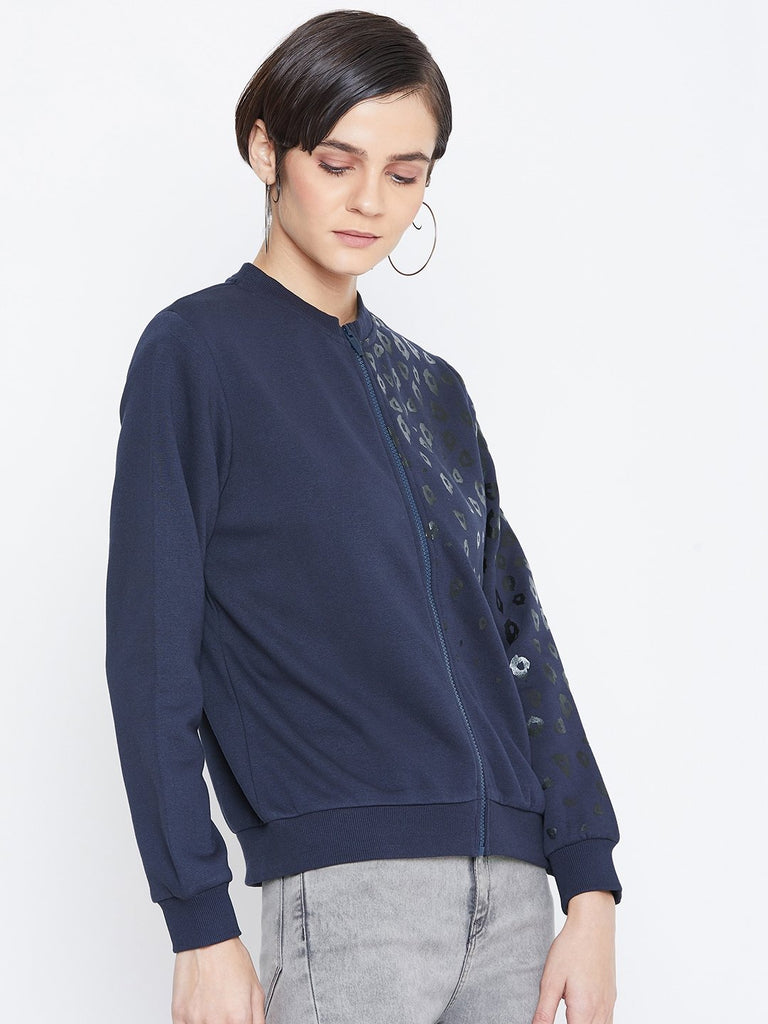 Camla Women Navy Sweat-Shirt