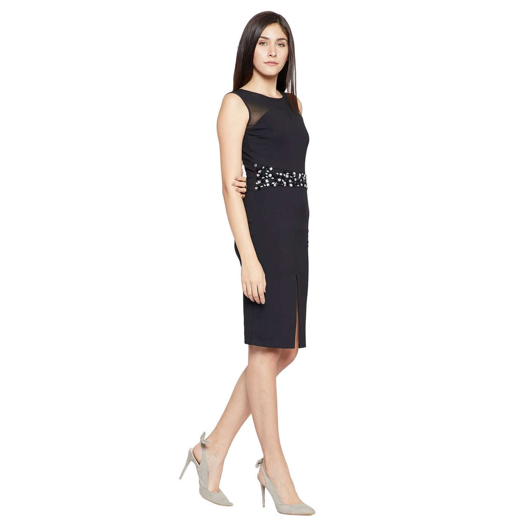 Black Casual Shift Dress