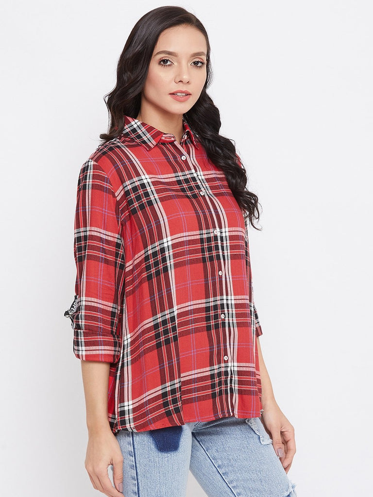 Madame Red Color Shirt For Women