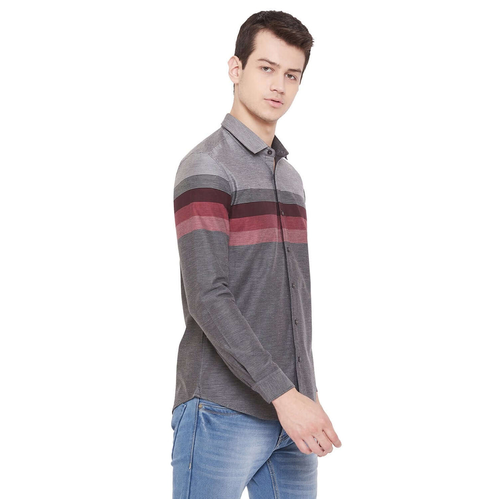 Camla Grey Color Shirt For Mens