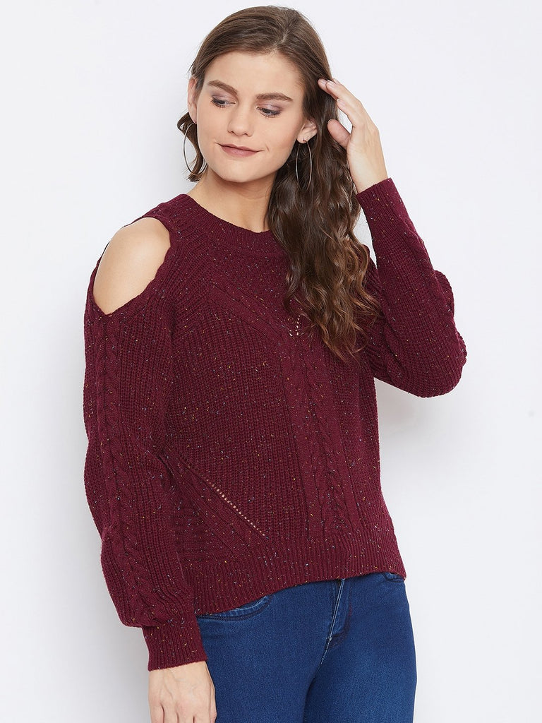 Camla Women Maroon Sweater