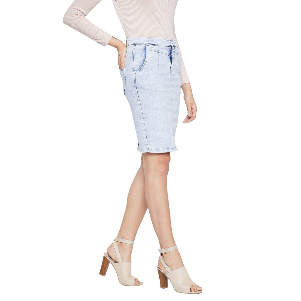 Madame Blue Pencil Skirt