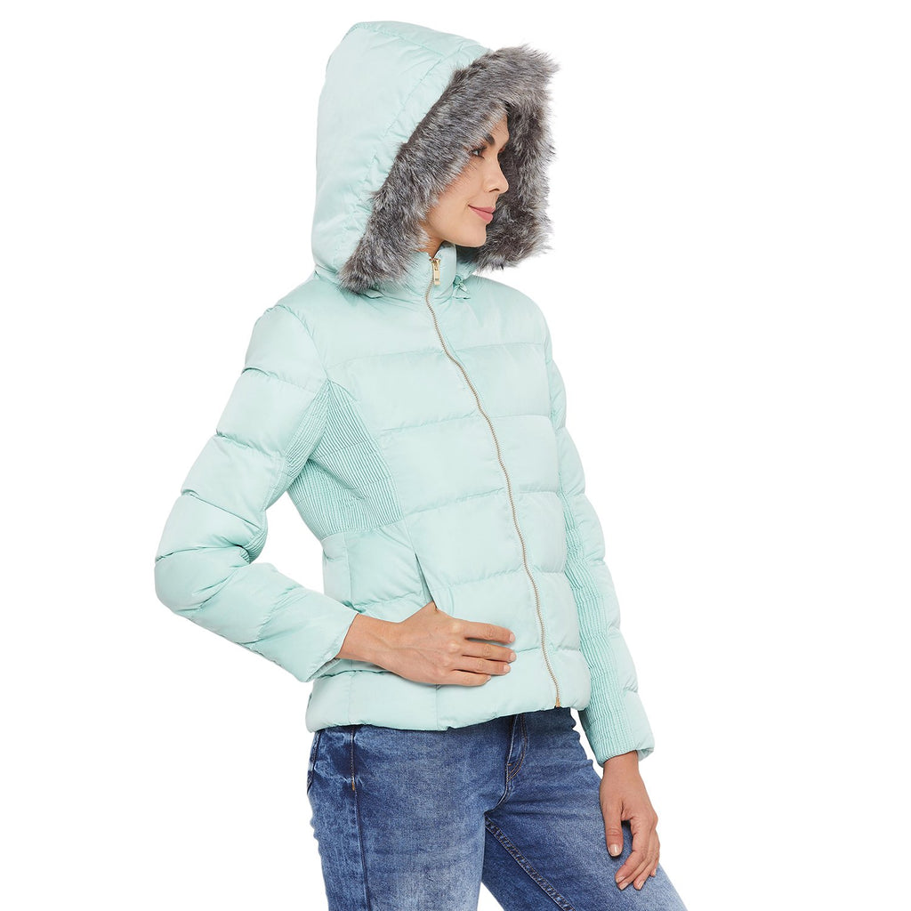 Madame Mint Color  Jacket For Women