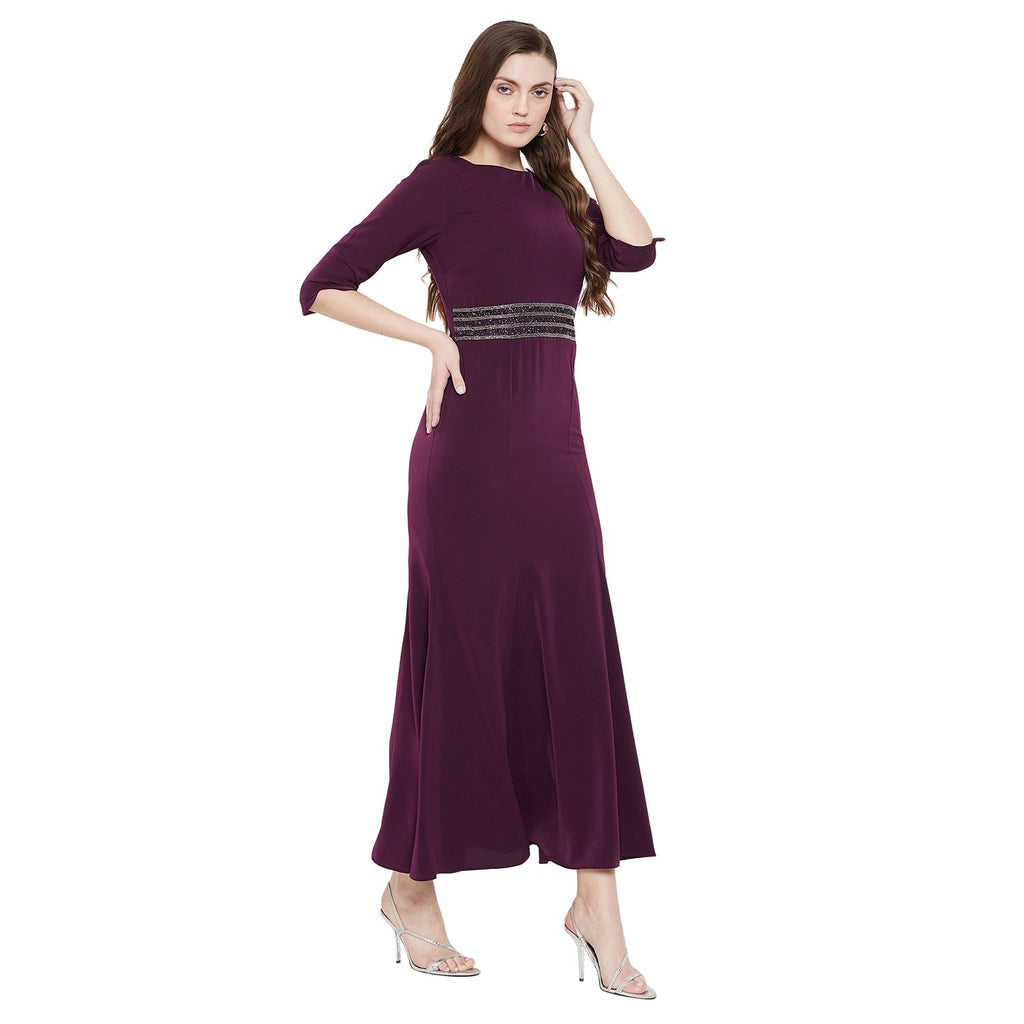 Madame Purple Color Dress For Women