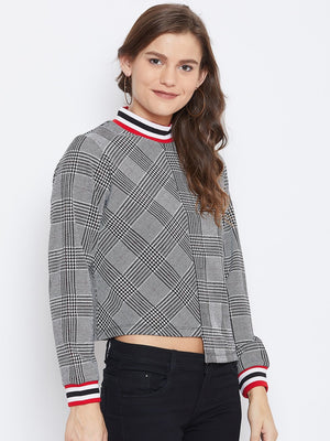 Camla Women Grey Sweat-Shirt