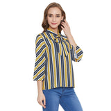 Madame Women Navy Top