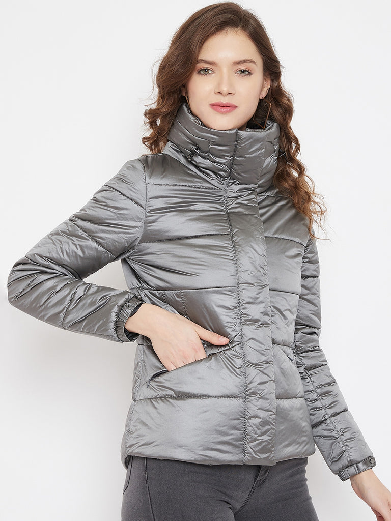 Madame Grey Color Jacket For Women