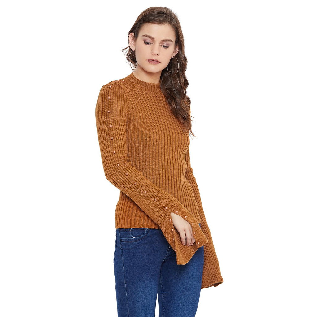 Camla Women Brown Sweater
