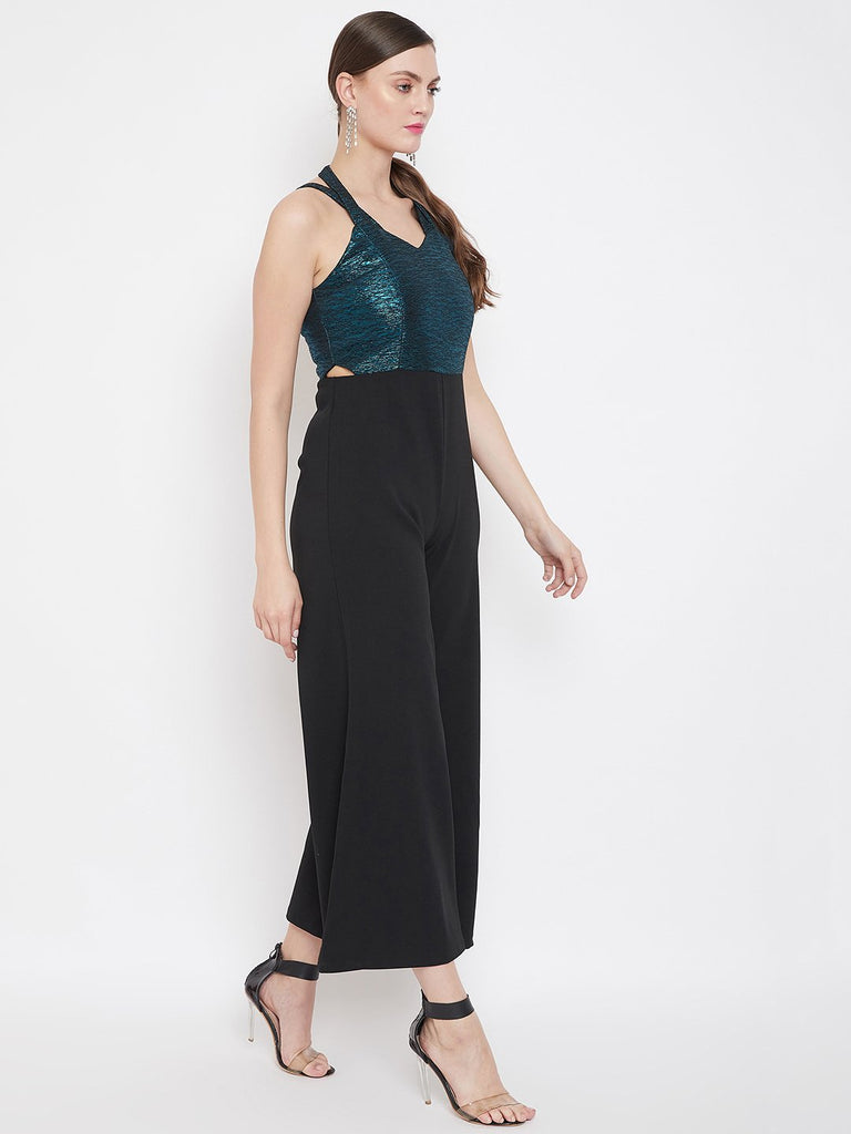 Madame Blue Color Jumpsuit For Women