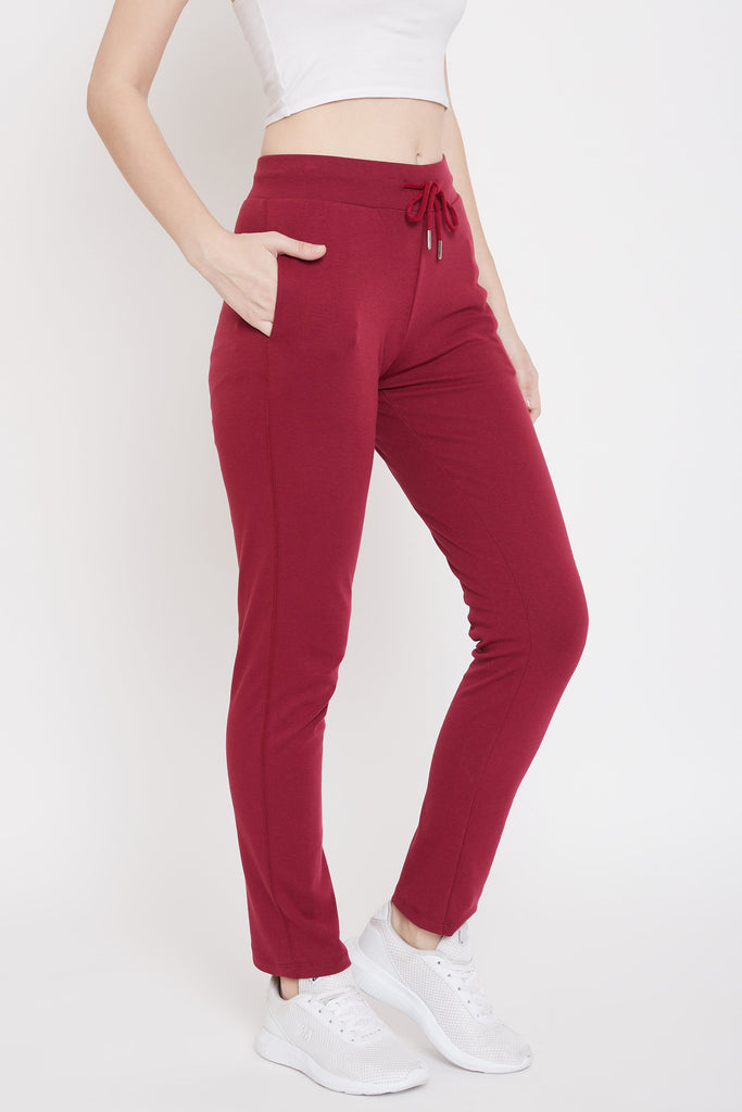 Madame Wine Color Trackbottom For Women