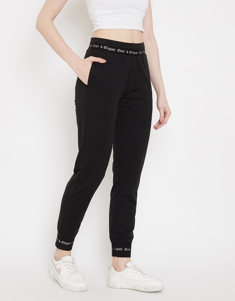Madame Black Track Bottoms For Women