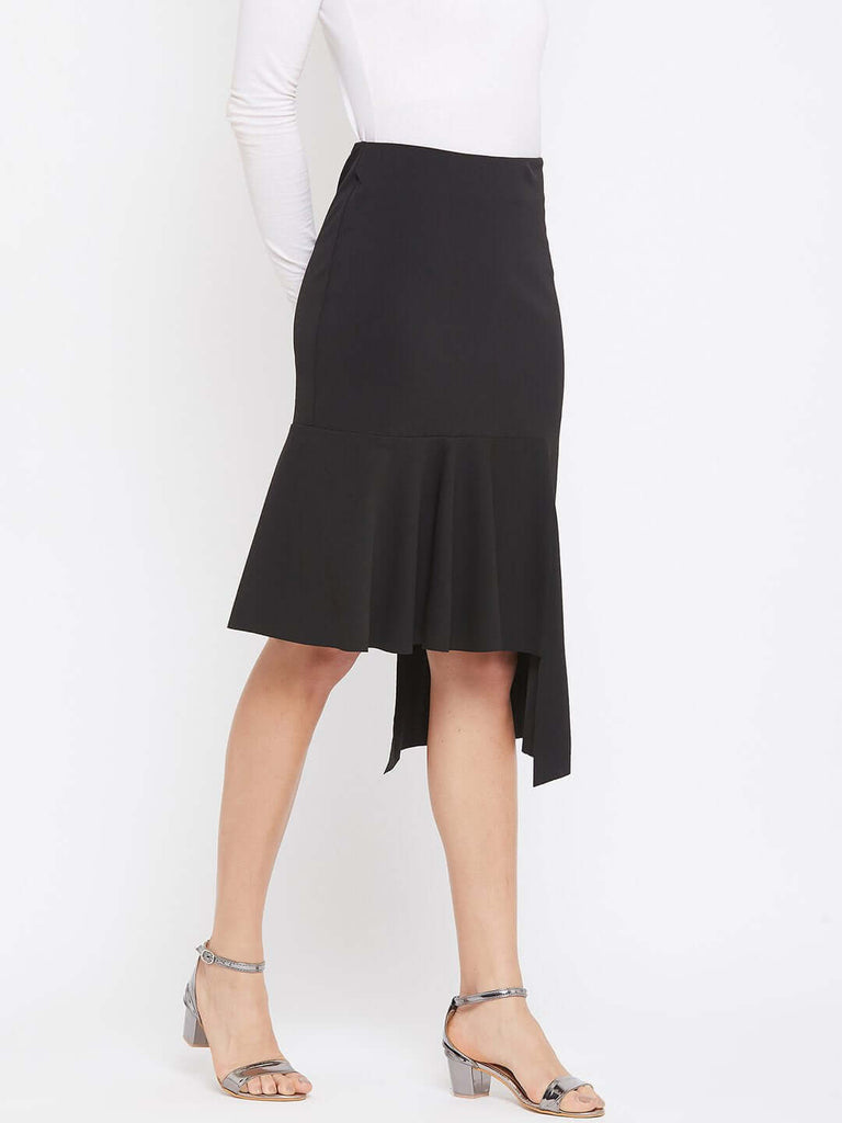 Camla Black Color Skirt For Women