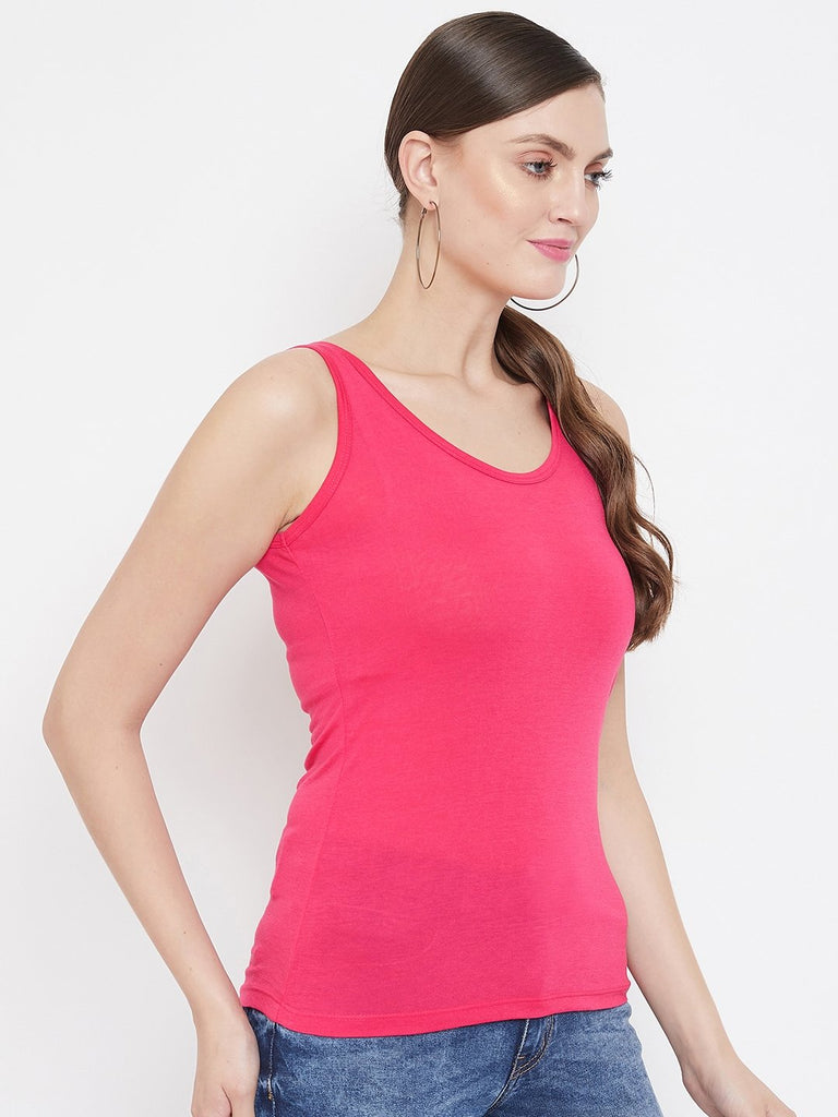 Madame Hot Pink Color Spaghetti For Women