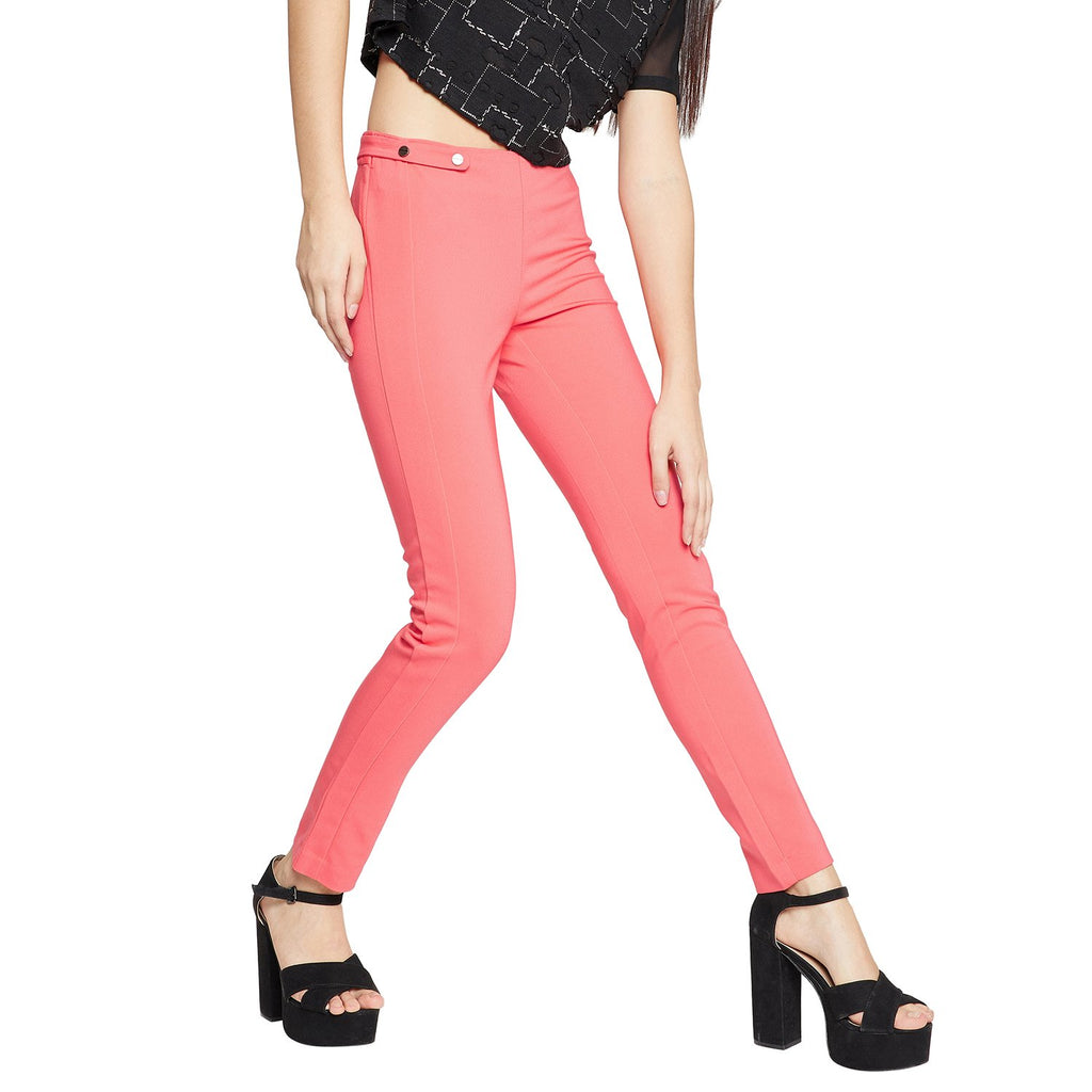 Madame Coral Pink Treggings