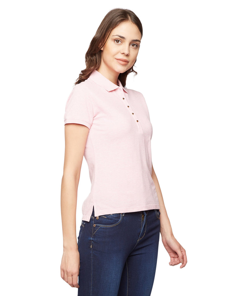 Madame Pink Solid T-Shirt