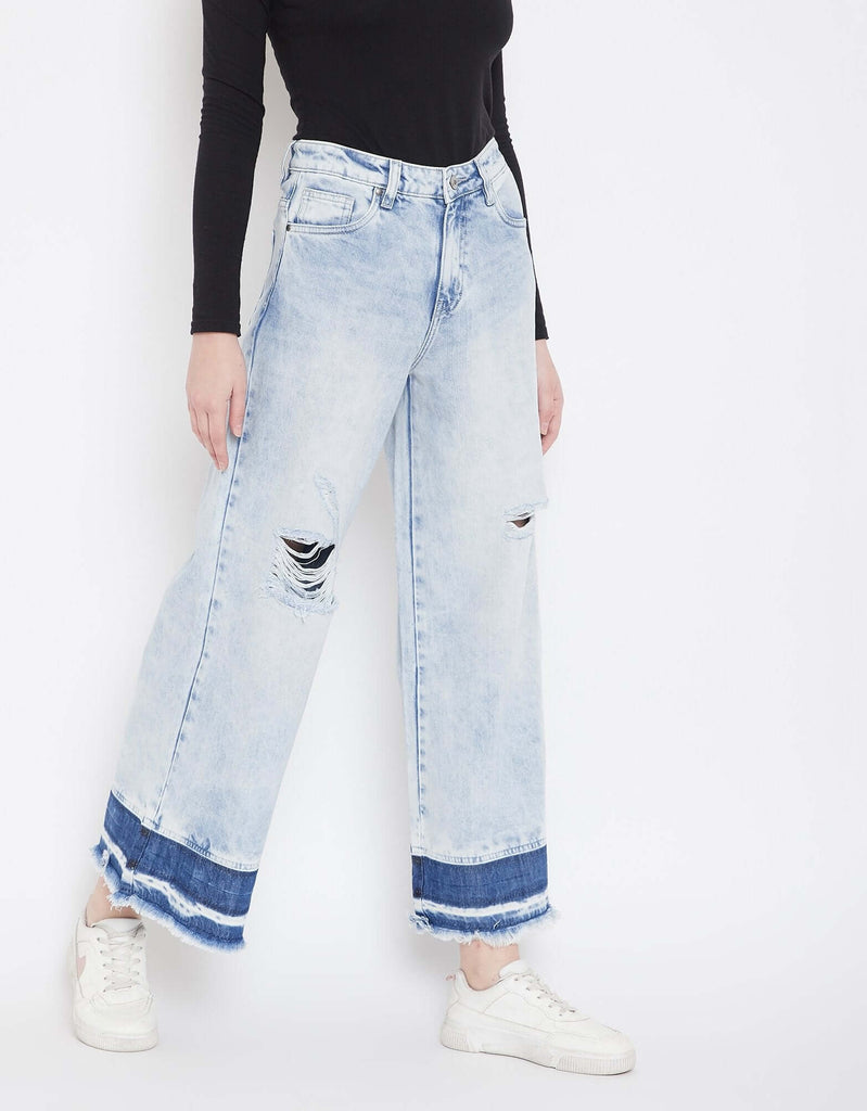 Blue Color Denim Jeans For Women