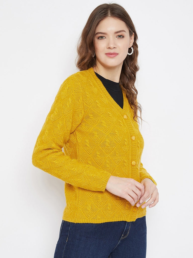MADAME MUSTARD Color Cardigan For Womens