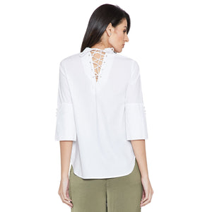 White Casual Solid Shirt