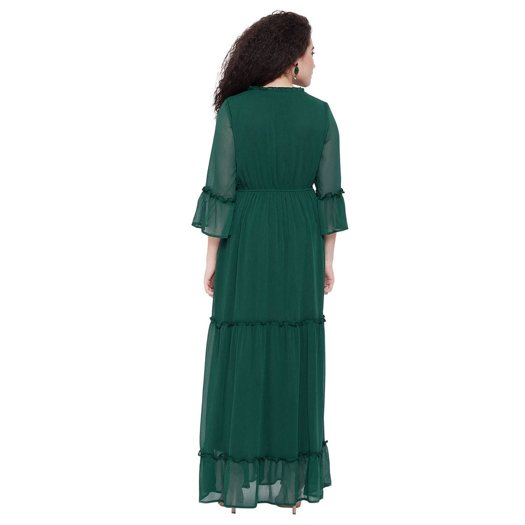 Madame Solid Maxi Long Casual Dress