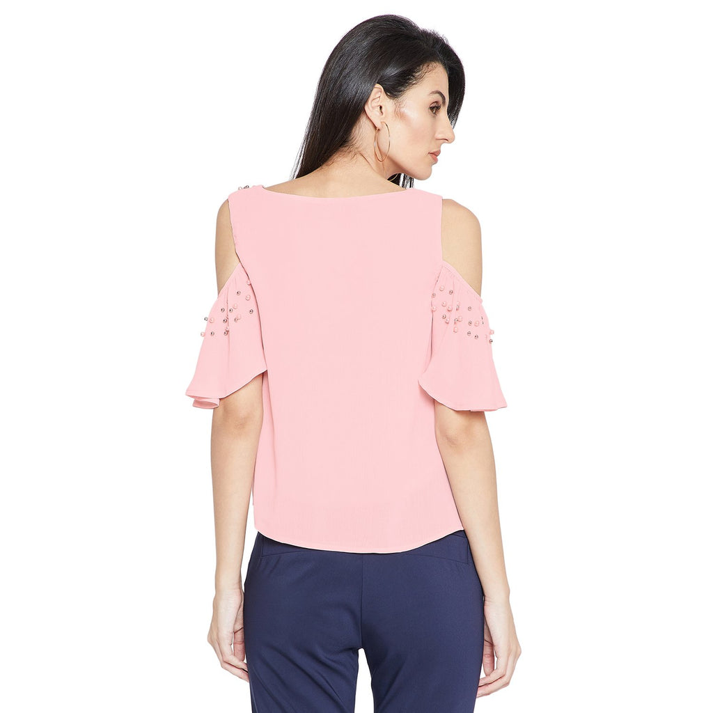 Pink Embellished Top