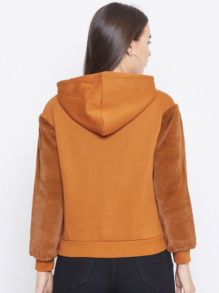 Camla Tan Color Sweatshirt For Women