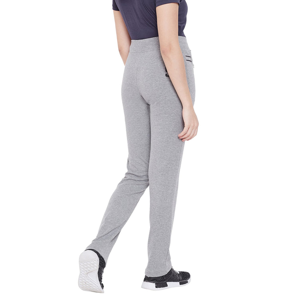 Madame Solid Casual Track Bottom