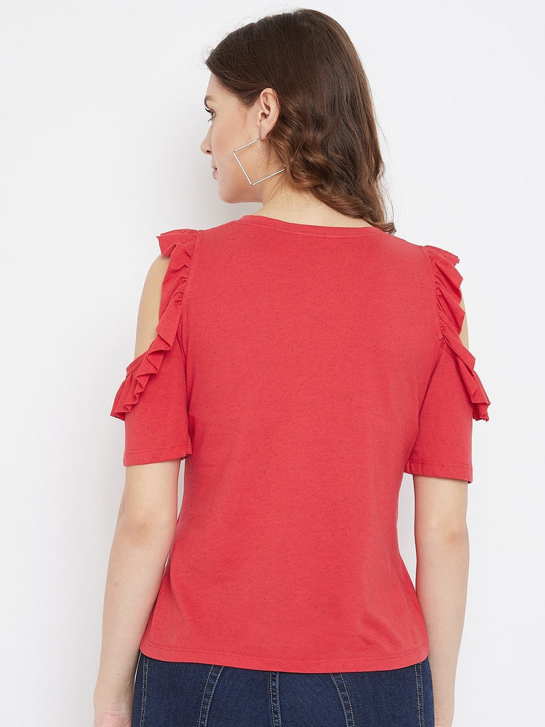 Madame Red Color Top For Women