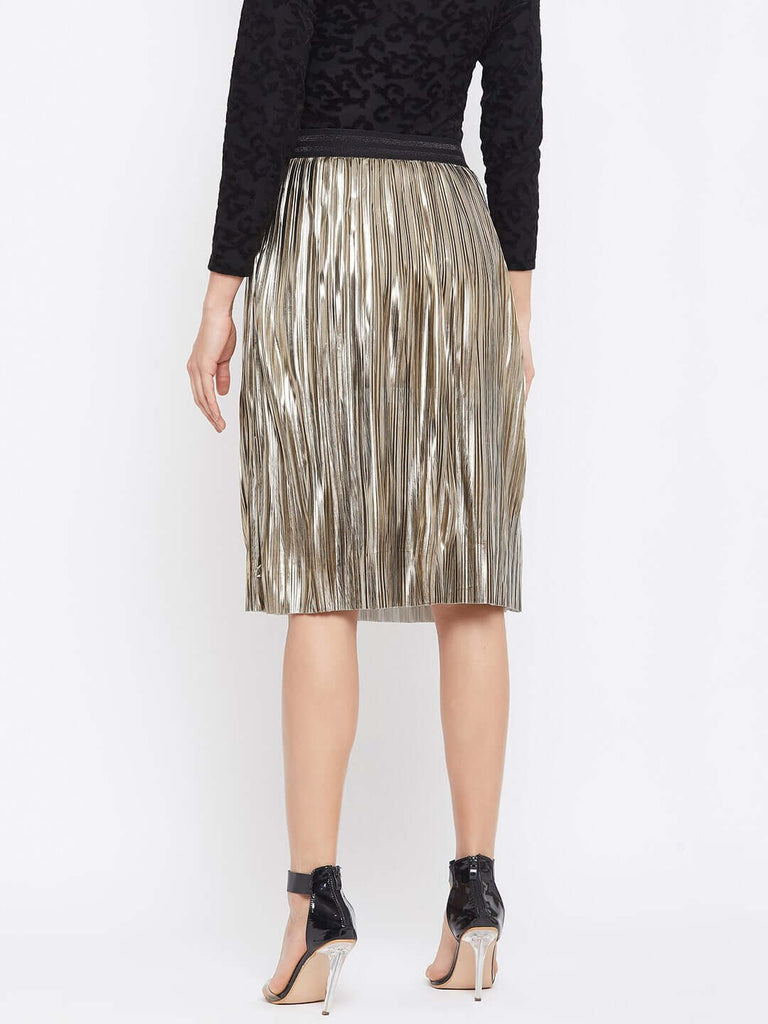 Camla Gold Color Skirt For Women