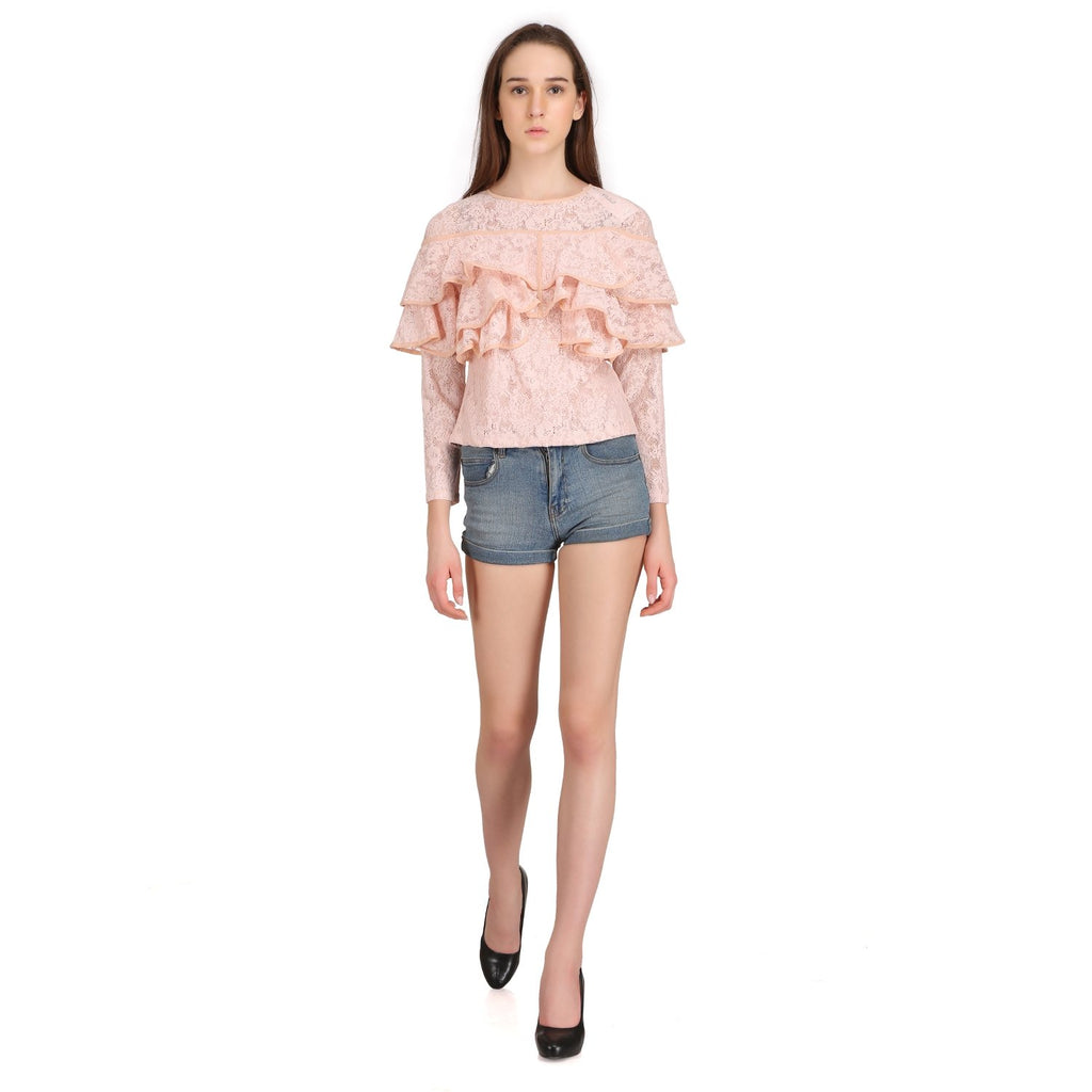 Madame Womens Peach Top F/S